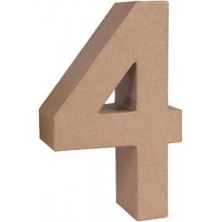 "NUMERO PAPEL MACHE 17,5X5,5CM. ""4"""