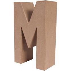 """LETRA PAPEL MACHE 25X6CM. """"M"""""""
