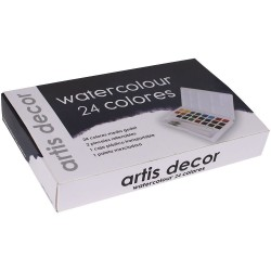 WAD20 ACUARELA BBAA SET ARTIS DECOR. 24 COLORES 1/2 GODET