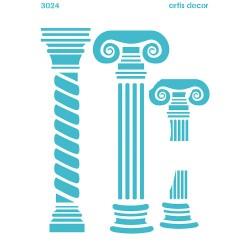 PLANTILLA STENCIL 30X40CM. columnas