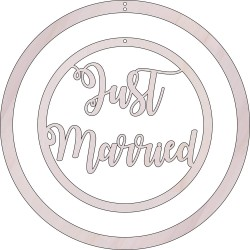 "COLGANTE MOVIL REDONDO ""JUST MARRIED"" 40 CM. DIAMETRO"