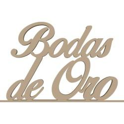 BODAS DE ORO CON PEANA 50X32X8 CM