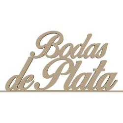 BODAS DE PLATA CON PEANA 60X38X8 CM