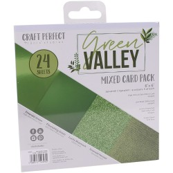 9393E MIXED CARD PACK 6X6''. Green Valley