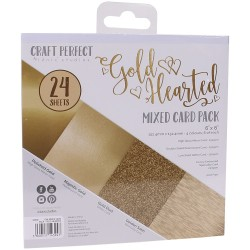9394E MIXED CARD PACK 6X6''.  Gold Hearted