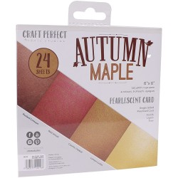 9416E PEARLESCENT CARD PACK 6X6''. Autumn Maple