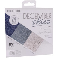 9427E SPECIALITY CARD PACK 6X6''. December Skies