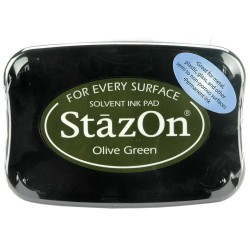 StazOn TAMPON 50GR.OLIVE GREEN