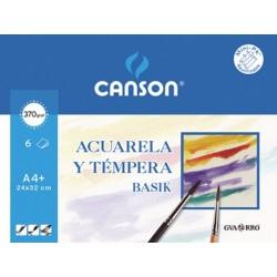MINIPACK BASICK ACUAR 24X32 (6HJ) 370G. CANSON (promo 20%gratis)