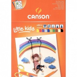 BLOC KIDS CANSON CARTULINAS COLORES A4 (30HJ.) 120GR.