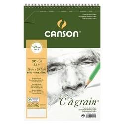 "BLOC ""C"" A GRAIN 14,8X22,7CM. (30HJ) 125GR. CANSON"