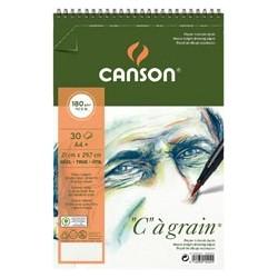 "BLOC ""C"" A GRAIN 14,8X22,7CM. (30HJ) 180GR. CANSON"