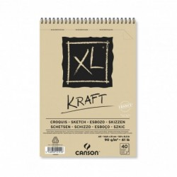 BLOC XL KRAFT A5-14,8x21cm. (40hj.) 90gr. CANSON