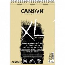 BLOC XL DRY MIXMEDIA NATURAL A4-21x29,7cm. (40HJ) 160gr.CANSON