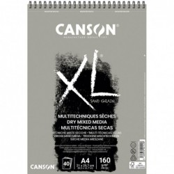 BLOC XL DRY MIXMEDIA GRIS A4 21x29,7cm. (40HJ) 160gr.CANSON