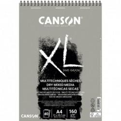 BLOC XL DRY MIXMEDIA GRIS A4 21x29,7cm. (40HJ) 160gr.CANSON