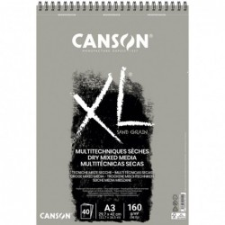 BLOC XL DRY MIXMEDIA GRIS A3 29,7x42cm. (40HJ) 160gr.CANSON