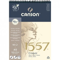 "BLOC CROQUIS ""1557"" 21X29,7 (50HJ) 120G. CANSON"