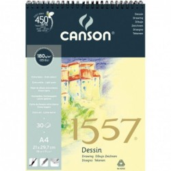"BLOC DESSING ""1557"" 21X29,7 (30HJ) 180G.CANSON"
