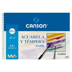 BLOC BASIK ACUARELA 32.5X46 (10HJ) 370GR.CANSON