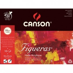 BLOC FIGUERAS OLEO 24X33 (10HJ) 290GR.CANSON