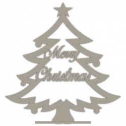 ARBOL DE NAVIDAD CON TEXTO MERRY CHRISTMAS 26,5X27,7  CM