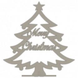 ARBOL DE NAVIDAD CON TEXTO MERRY CHRISTMAS  38X40 CM