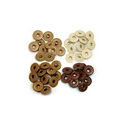 WIDE EYELETS ALUMINUM BROWN