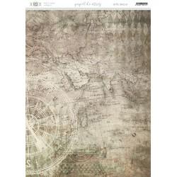 Papel de arroz fondo mapa antiguo.