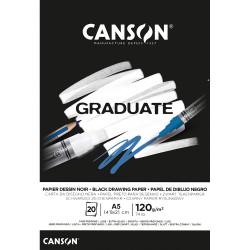 BLOC GRADUATE DESSIN NOIR A5-14,8X21 (20HJ) 120G. CANSON