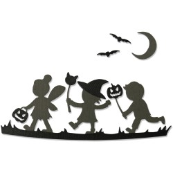 "SIZZIX (CH3-20) CORTADOR SET 6 pzas.""Halloween Silhouettes by L.Jones"""