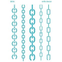 Plantilla stencil cadenas