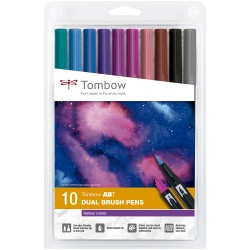 BLISTER 10 GALAXY COLORS ABT-10C-3 TOMBOW DUAL BRUSH