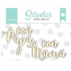 """CON PAPA- CON MAMA"" CHIPBOARD"
