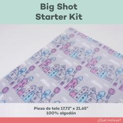 Tela algodón incluida en kit big shot starter kit