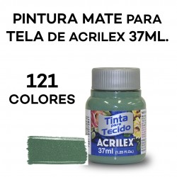 MATE DE 37 ML. PINTURA PARA TELA/TEXTIL
