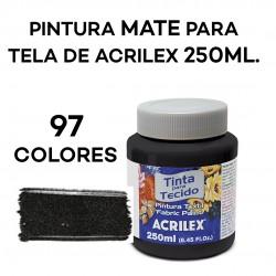 MATE 250ML. PINTURA TEXTIL/PARA TELA DE ACRILEX
