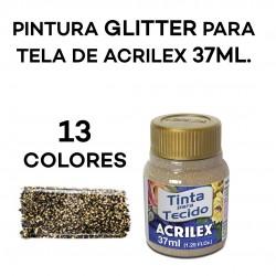 PINTURA GLITTER TEXTIL...