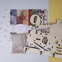 Colección de papeles + Percha locomotora Escuela de Magia