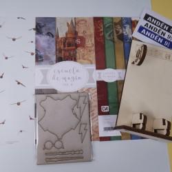 Colección de papeles + Soporte para móviles Escuela de Magia