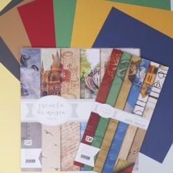 Colección de papeles + Cartulinas a juego de Escuela de Magia