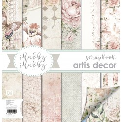"""SHABBY SHABBY"" COLECCION PAPEL SCRAP 12X12""+12X6"" ARTIS DECOR"