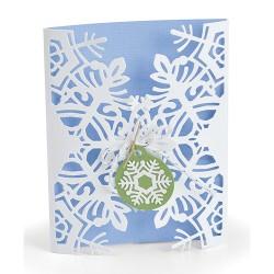 """Card Wrap Snowflake by..."