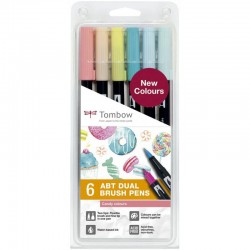 Estuche rotuladores lettering tombow candy dual brush