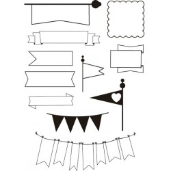 """""""BANDERINES"""" STAMP CLEAR A5 ARTIS DECOR"""