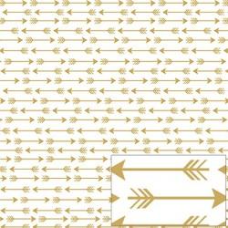 SH30-042 PAPEL SCRAP HOT 30,5X30,5.  FLECHAS BCO/ORO