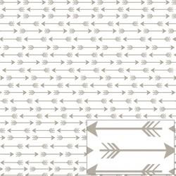 SH30-046 PAPEL SCRAP HOT 30,5X30,5.  FLECHAS BCO/PLATA