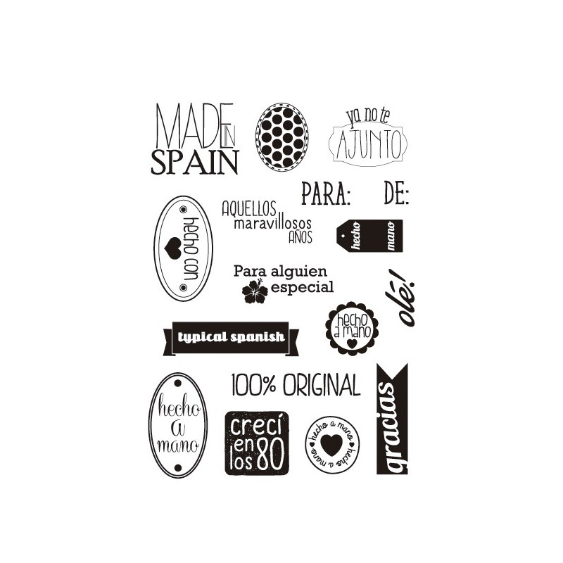 """MADE IN SPAIN"" STAMP CLEAR A5 ARTIS DECOR"