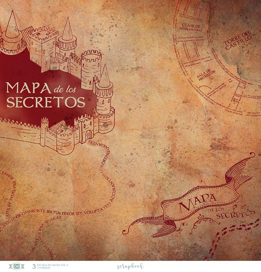 Mapa de los secretos de la colección escuela de magia volumen 2