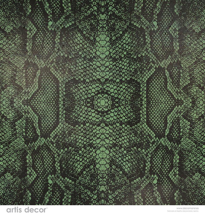 Textura piel de serpiente en verde
